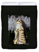 Father Christmas Ornament Duvet Cover