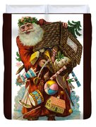 Father Christmas With Presents Duvet Cover