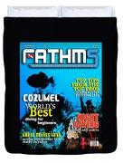 Fathms Faux Magazine Cover Duvet Cover