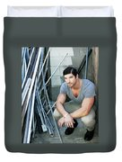 Faubourg Alley Man Duvet Cover