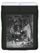 Faust And Mephistopheles Duvet Cover