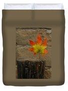 Faux Leaf Duvet Cover