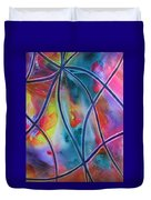 Faux Stained Glass II Duvet Cover