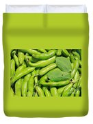 Fava Bean Pods Duvet Cover