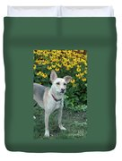 Fawn And The Flowers Duvet Cover