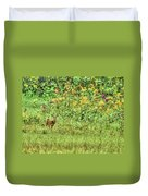 Fawn In Flowers Duvet Cover