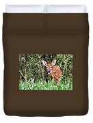 Fawn In The Grass Duvet Cover by Marty Koch