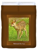 Fawn Poster Image Duvet Cover