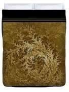 Fear Of The Forest-2 Framed Black And Gold Duvet Cover