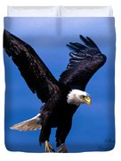 Fearsome Bald Eagle Duvet Cover