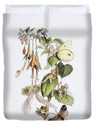 Feasting And Fun Among The Fuschias Duvet Cover