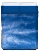 Feather Clouds On Blue Sky Duvet Cover