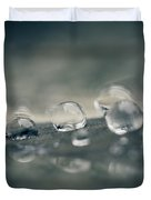 Feather Doplets Duvet Cover by Shane Holsclaw