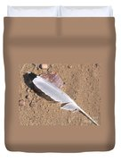 Feather On Damp Sand Duvet Cover