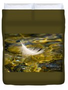 Feather On Golden Water Duvet Cover