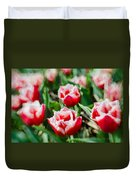Feather Red Duvet Cover