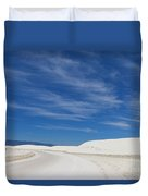 Feathery Clouds Over White Sands Duvet Cover