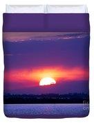 February Sunset Duvet Cover
