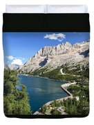 Fedaia Pass With Lake Duvet Cover