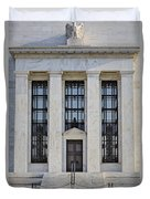 Federal Reserve Duvet Cover by Susan Candelario