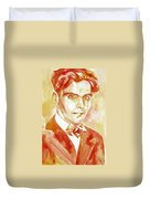 Federico Garcia Lorca Portrait Duvet Cover
