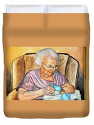 Feeding Baby 2 Duvet Cover