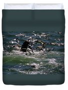 Feeding Humpback Whale Duvet Cover