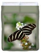 Feeding Zebra Butterfly Duvet Cover