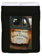 Feeds Of The Past Duvet Cover