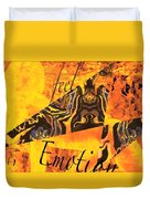 Feel Emotion Yellow And Black Duvet Cover