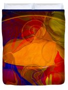 Feeling At Home With Uncertainty Abstract Healing Art Duvet Cover