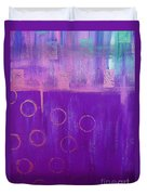 Feeling Purple Abstract Duvet Cover