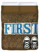 Feet First Duvet Cover