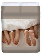Feet In Bed Duvet Cover