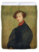 Felicie De Fauveau, 1829 Oil On Panel Duvet Cover