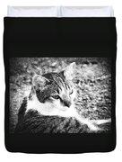 Feline Pose Duvet Cover