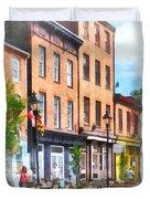 Fells Point Street Duvet Cover