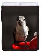 Female Anna Hummingbird Duvet Cover