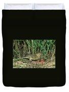 Female Bobolink At Nest Duvet Cover
