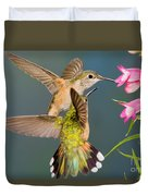 Female Broad-tailed Hummingbird Duvet Cover