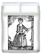Female Continental Soldier Duvet Cover