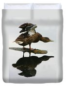 Female Mallard Duck  Duvet Cover