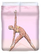 Female Musculature Performing Triangle Duvet Cover