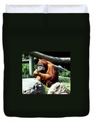 Female Orangutan-san Diego Duvet Cover