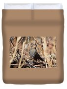 Female Red-winged Blackbird Duvet Cover