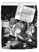 Feminists Protest  Brown's Bar Duvet Cover