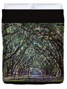 Fence And Wormsloe In Savannah  Duvet Cover