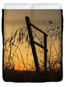 Fence At Sunset I Duvet Cover