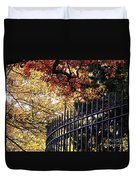 Fence At Woodlawn Cemetery Duvet Cover