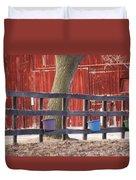 Fence Full Of Buckets Duvet Cover